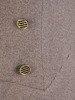 Wełniana sukienka ze złotymi guzikami, modna kreacja z kołnierzem 22982