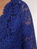 Wieczorowa sukienka o długości maxi, kreacja z koronkowym topem 22612