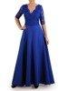 Wieczorowa sukienka o długości maxi, kreacja z koronkowym topem 22625