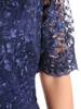 Wieczorowa sukienka o długości maxi, kreacja z koronkowym topem 30309