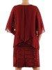 Wieczorowa sukienka wyszczuplająca, kreacja z szyfonową narzutką 26752