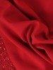 Wizytowa sukienka z dzianiny, kreacja z koronkowymi wstawkami 23865