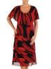 Wyjściowa sukienka z falbanami, zwiewna kreacja w oryginalnym wzorze 26874