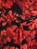 Wyjściowa, zwiewna sukienka w kwiaty z kopertowym dekoltem 30514