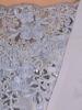 Wyszczuplająca sukienka z koronkowym wykończeniem, szara kreacja z połyskiem 20175