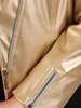 Złota ramoneska z ozdobnymi zamkami 29923